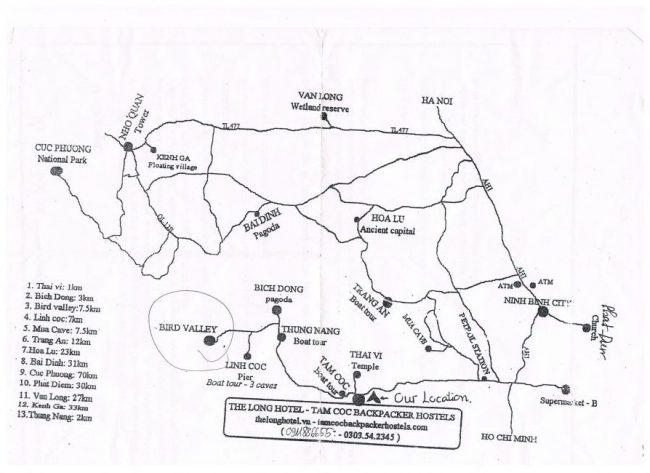 Mapa Ninh Binh