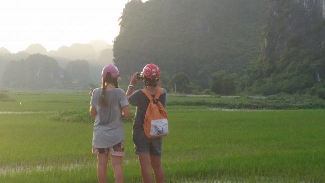 Extranjeros en moto por Vietnam