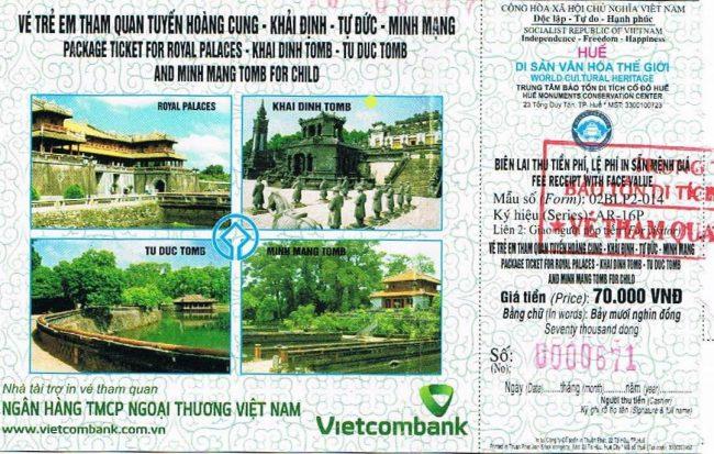 Precio entradas combinadas Ciudad Imperial y Tumbas Hué