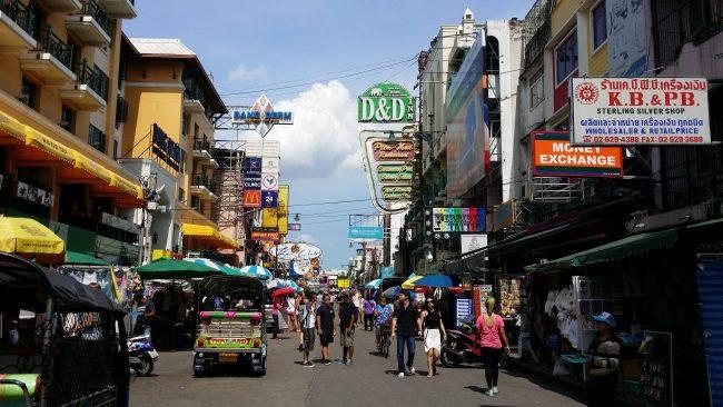 La calle más animada de Bangkok