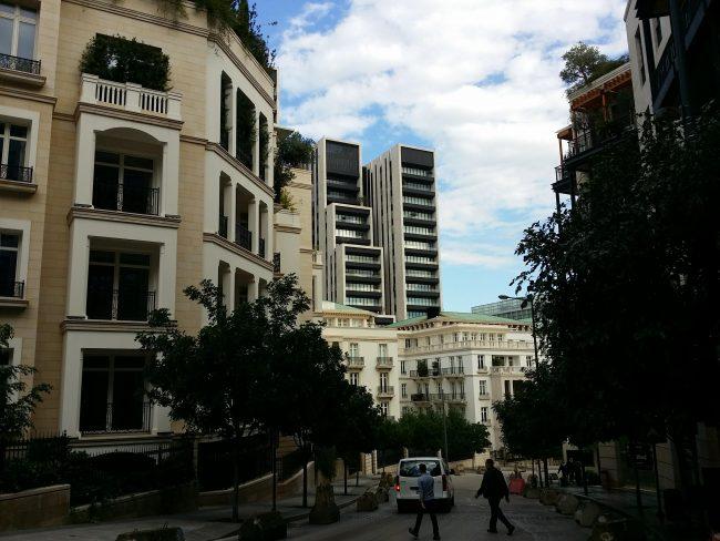 Área más lujosa de Beirut