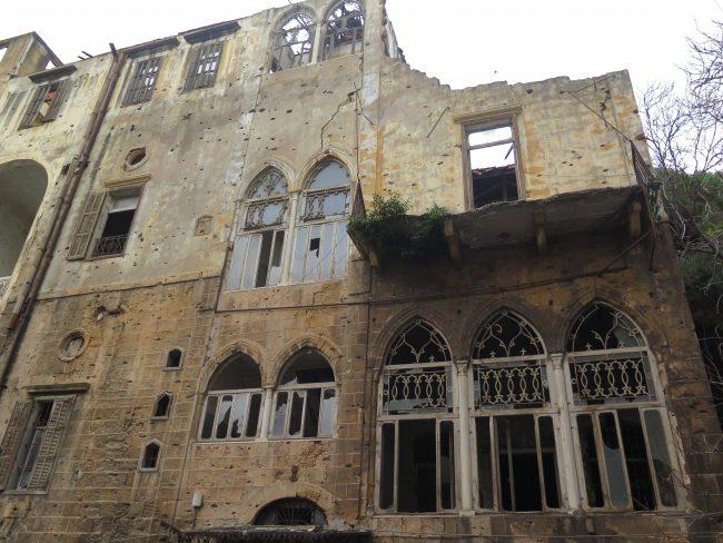 Línea que dividió Beirut durante la Guerra