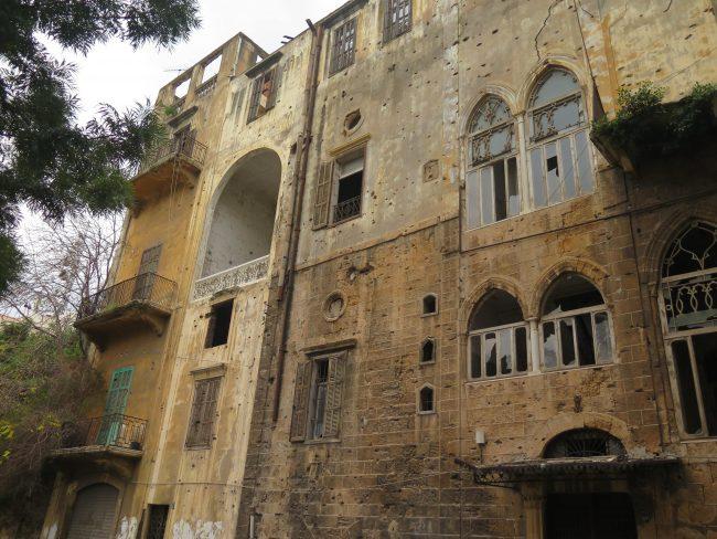 Guía de edificios tiroteados en Beirut
