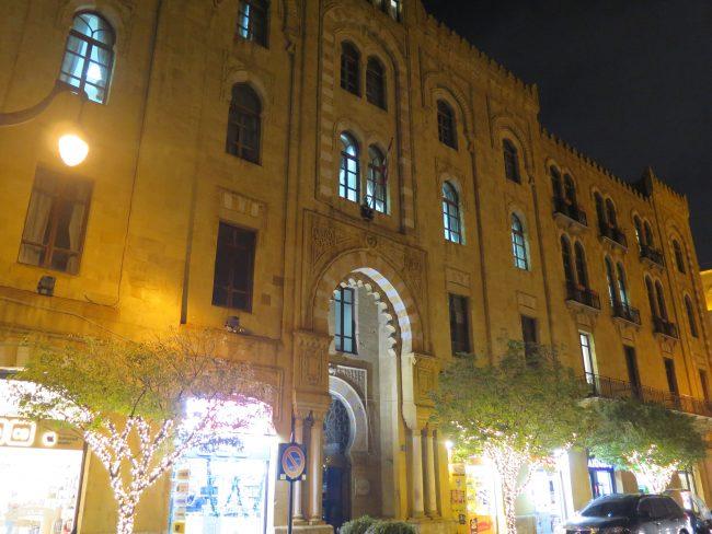 La iluminación nocturna del Centro de Beirut