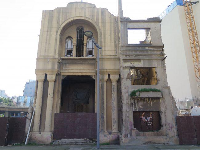 Iglesias de Beirut sin restaurar