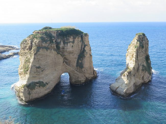 Las Rocas de las Palomas en Beirut