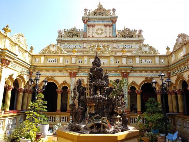 Pagoda en el Delta del Mekong