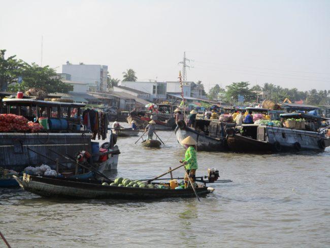 Los mercados flotantes más importantes del Delta del Mekong
