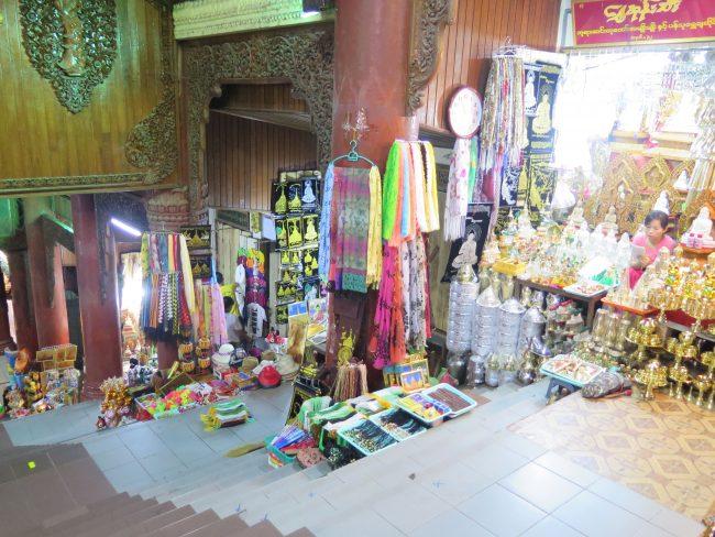 Comprar souvenirs en los Templos de Myanmar