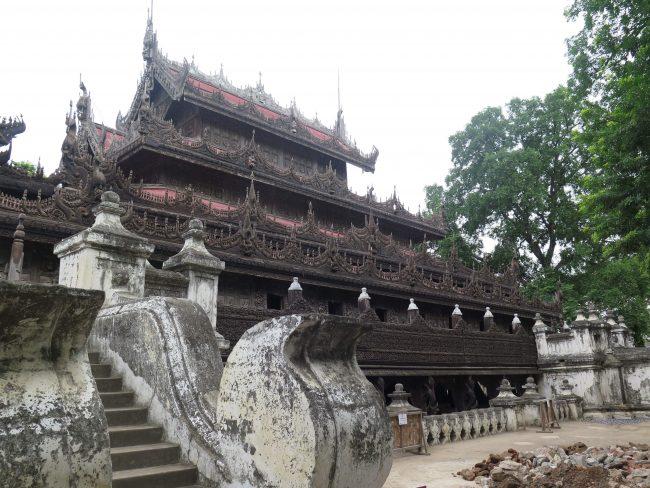 El monasterio más bello de Mandalay
