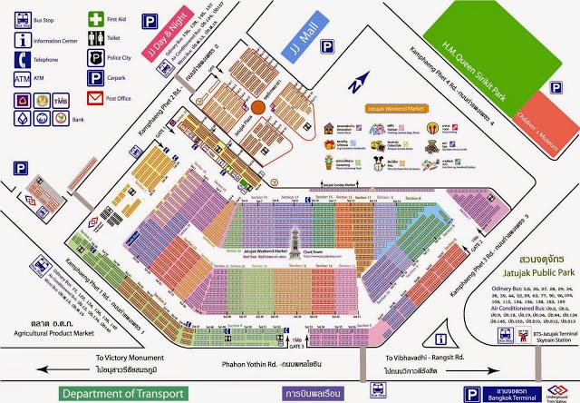 Mapa del Mercado de Chatuchack