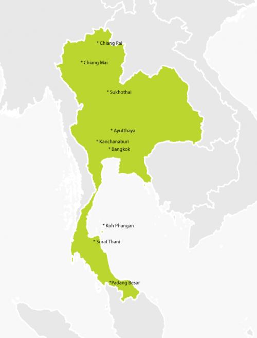 Itinerario recomendado para viajar a Tailandia