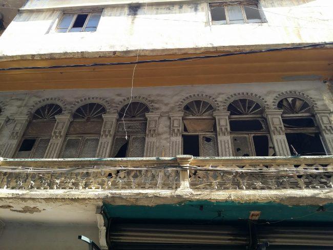 Típicos balcones del Barrio Armenio de Beirut