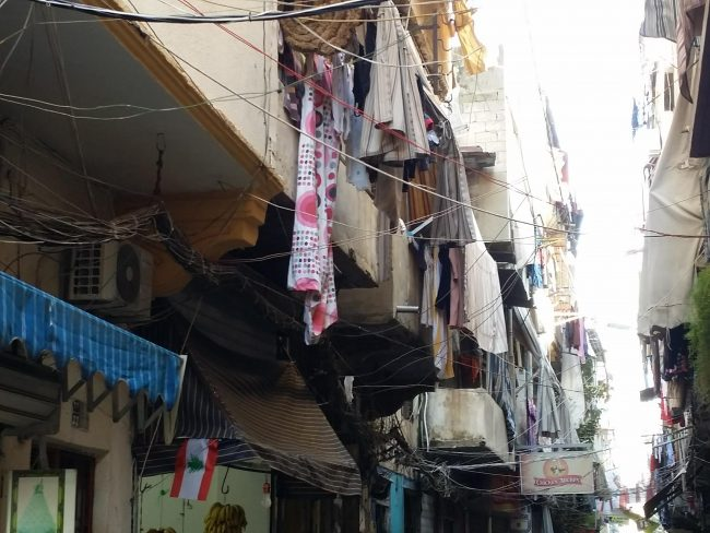 Trazado urbano del Barrio Armenio de Beirut