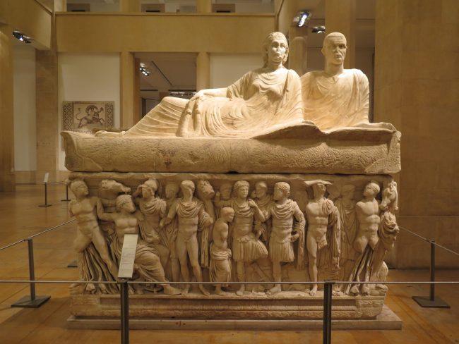 Sarcófagos en el Museo Nacional de Beirut