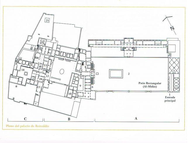 Plano del Palacio de Beiteddin