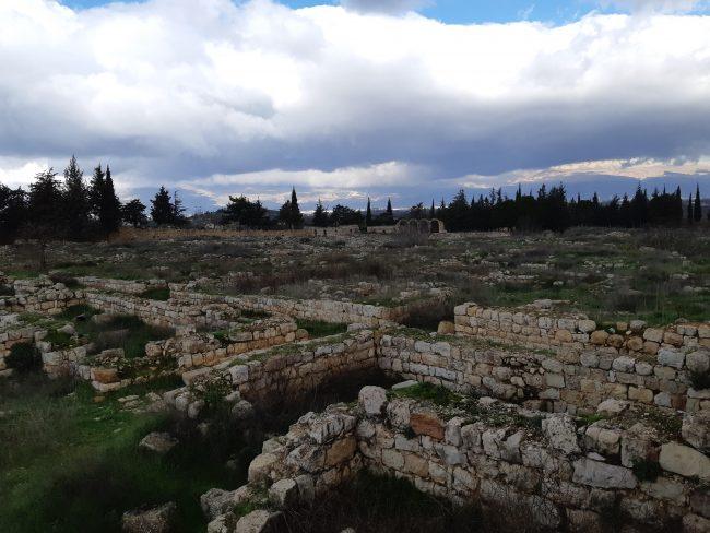 Las ruinas Omeyas ubicadas junto a las romanas de Baalbek
