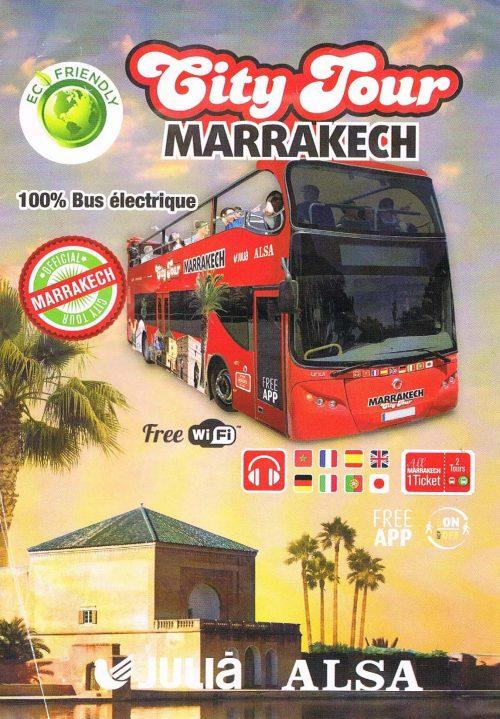 Servicios autobuses panorámicos Marrakech