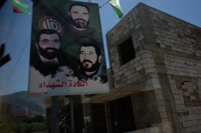 Los carteles de la lucha en Líbano