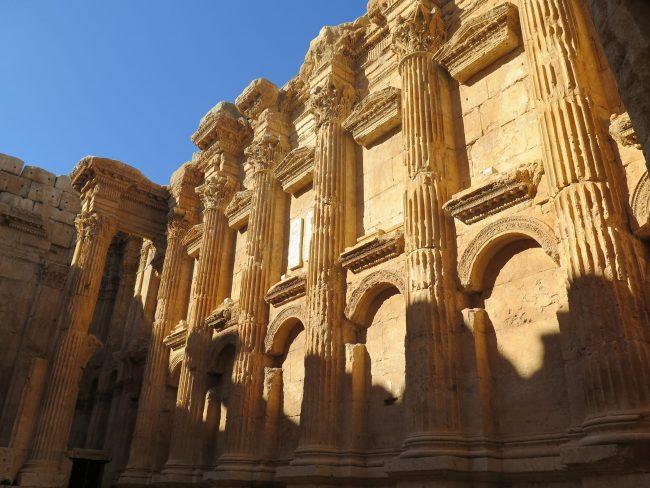 Estructura interior del Templo de Baco en Baalbek