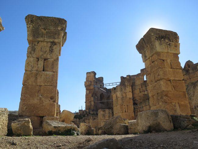 Estructuras medievales de los Templos de Baalbek