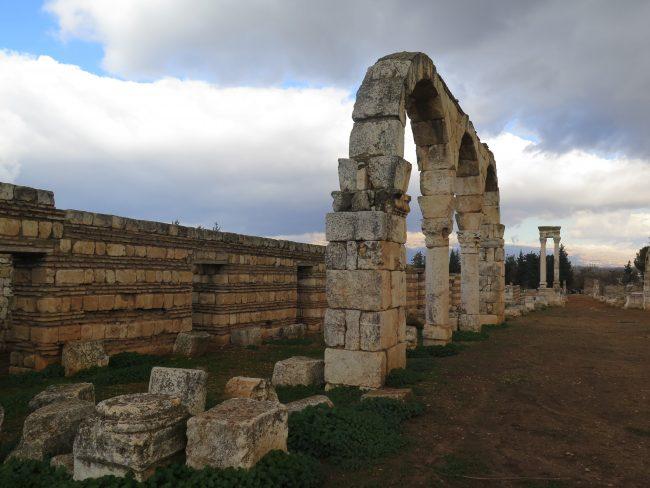 Calles principales de las Ruinas de Anjar