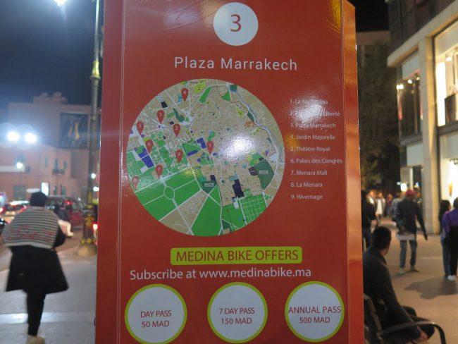 Puntos de Alquiler de bicicletas en Marrakech