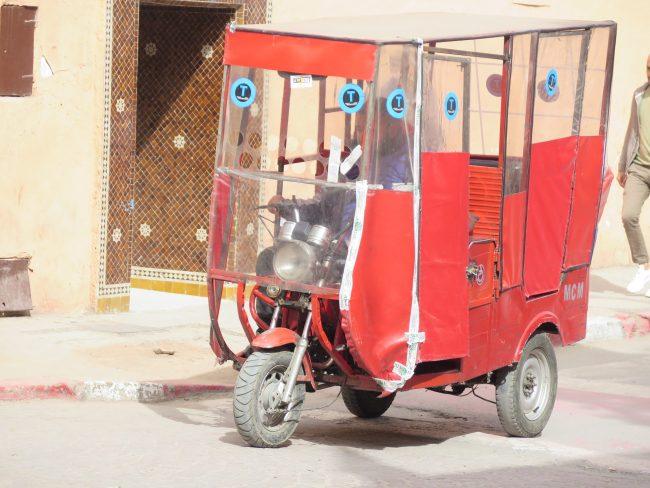 Desplazarse en motocarro por la Medina de Marrakech