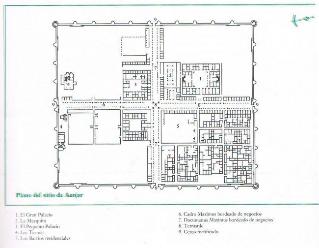 Mapa para orientarse en las ruinas de Anjar