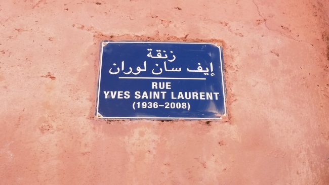 La calle de Yves Saint Laurent en Marrakech
