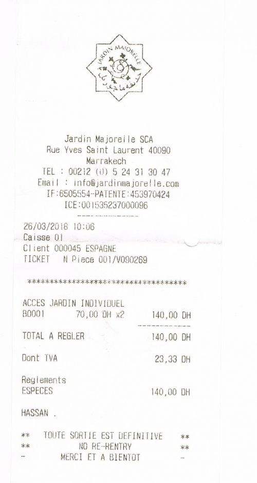 El precio de las entradas a los Jardines de Majorelle en Marrakech
