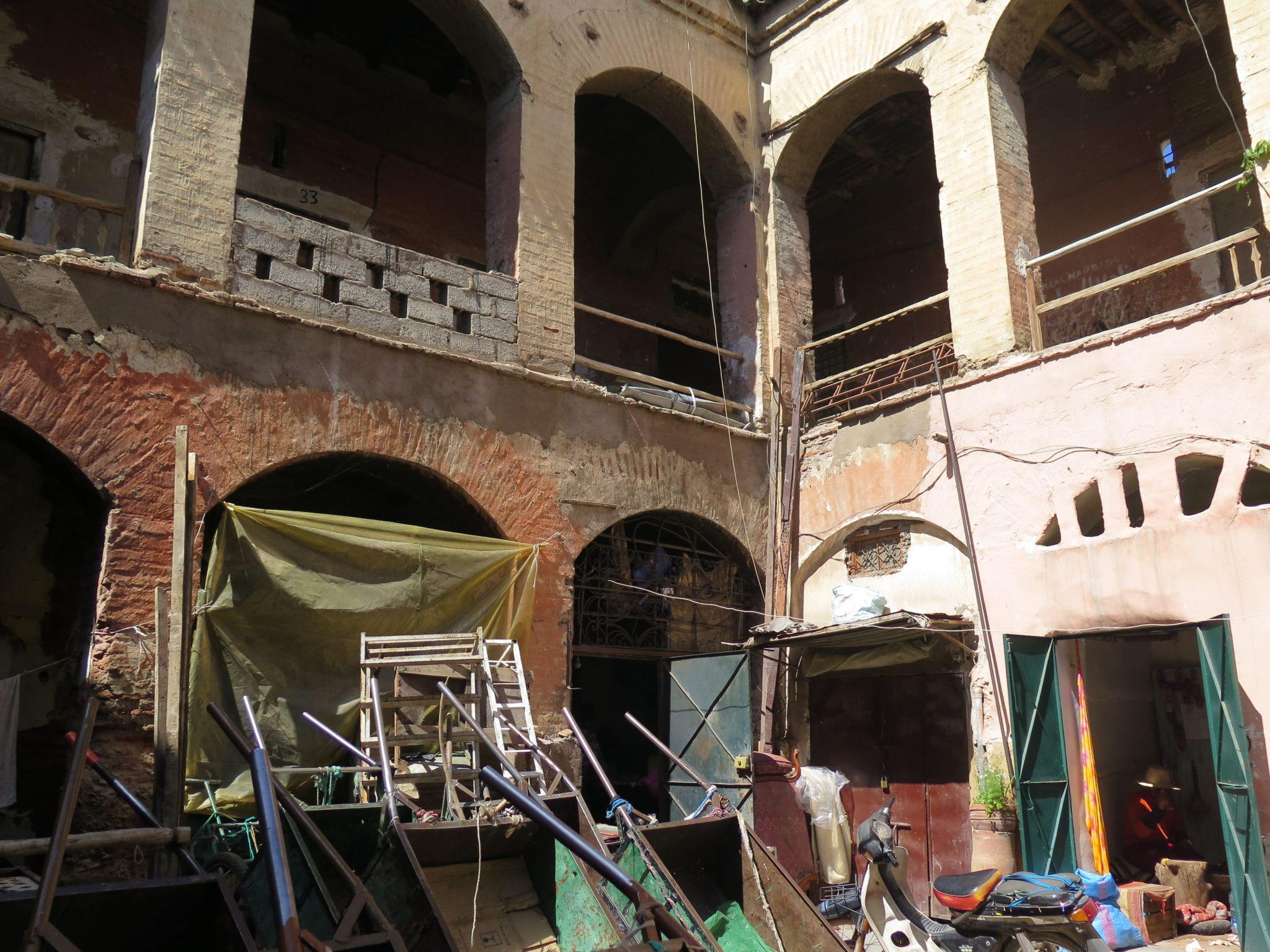 Caravasar en Marrakech dedicado a vivienda y almacenes