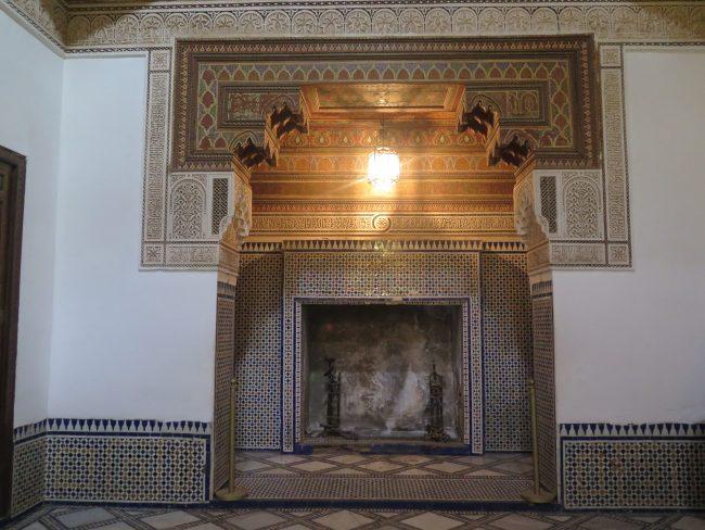 El Palacio de la Bahía durante el Protectorado Francés de Marruecos