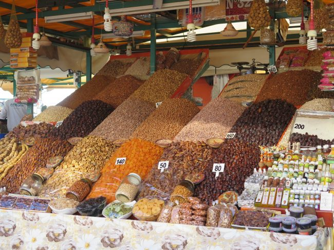 Puestos de venta ambulante en la Plaza de la Jemaa