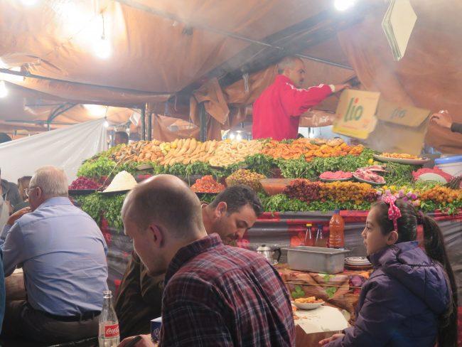 Cenar en Marrakech