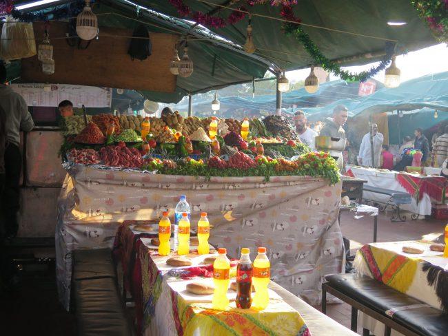 Están bien para cenar los puestos de la Plaza de la Jemaa