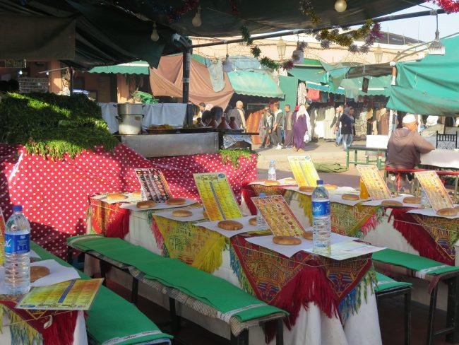 Oferta culinaria Plaza de la Jemaa
