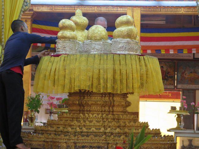 Budas de oro del Lago Inle