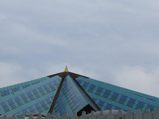 Curiosa estructura de la cúpula de Masjid Negara