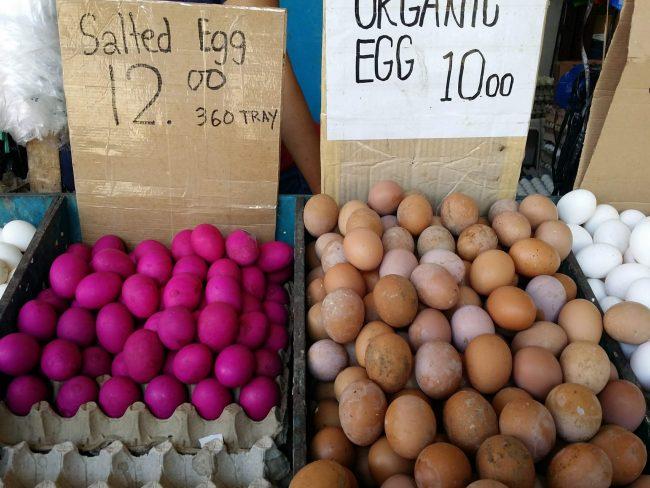 Huevos rosas salados de Filipinas