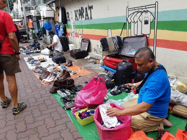 Mercado de Pulgas en el Mercado Chino de Kuala Lumpur