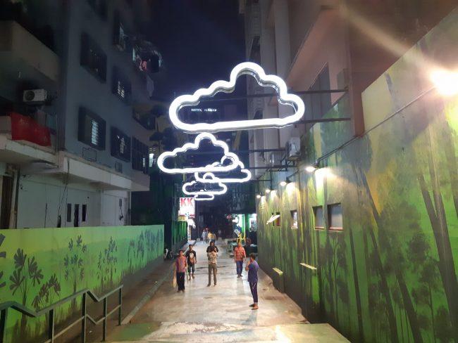 Originales composiciones artísticas en las calles de Kuala Lumpur