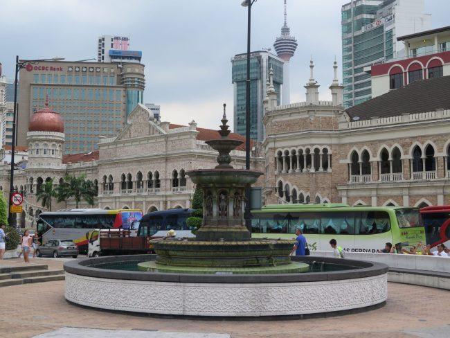 Fuente colonial de Kuala Lumpur