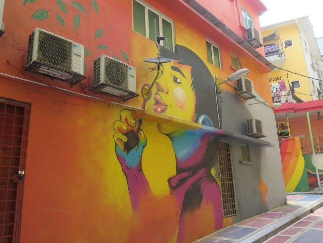 Murales en los Callejones traseros de Jalan ALor