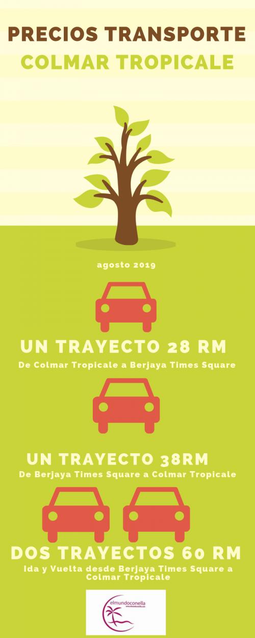 Precios transporte Colmar Tropicale