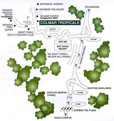 Mapa de ubicación Colmar Tropicale