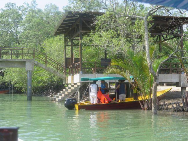 Barcas desde Kampung Bako al Parque Nacional