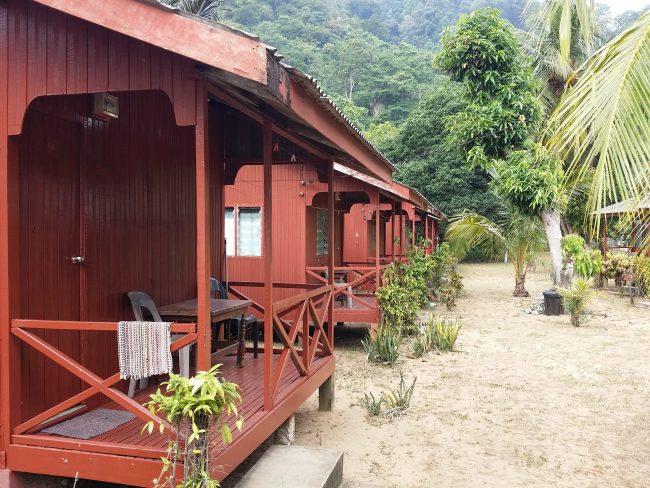 Típicas cabañas de la isla de Tioman