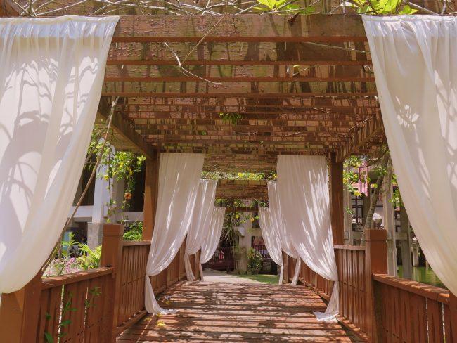 Preciosa decoración para un enlace matrimonial en los Jardines de Terengganu State Museum