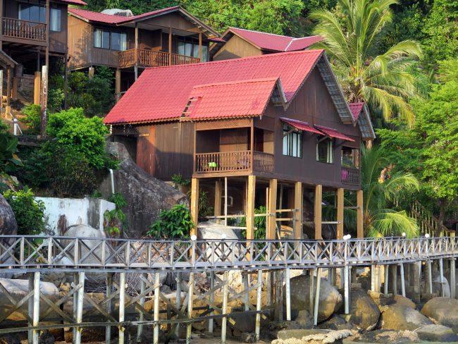 Nuestra bonita cabaña en el Hotel de la Isla de Tioman
